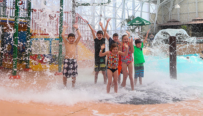 waves waterpark advantage kids under water dumping bucket