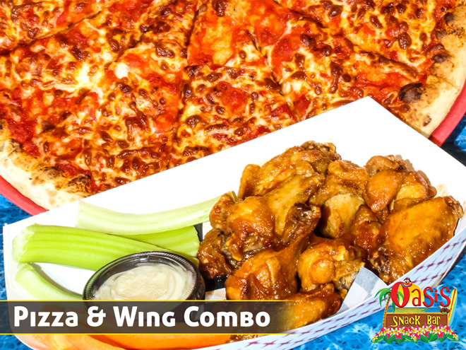 Oasis Snack Bar Pizza & Wing Conbo